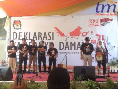 Deklarasi Kampanye Damai 2018 kota Mojokerto