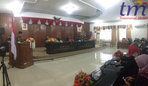 Rapat sidang paripurna DPRD KOTA MOJOKERTO