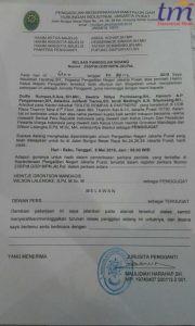 Kuasa Hukum penggugat telah menerima Relaas Panggilan Sidang yakni surat pemberitahuan agar mengikuti persidangan gugatan perdata atas PMH Dewan Pers pada hari Rabu, 9 Mei 2018 mendatang di PN Jakarta Pusat. Surat relaas bernomor 235/Pdt.G/2018/PN.Jkt.Pst, tertanggal 30 April 2018 itu ditandatangani oleh Jurusita Pengganti, Maulidiah Harahap, SH.