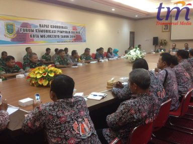 Rapat Koordinasi Forkipimda Kota Mojokerto. selasa (15/5/2018)