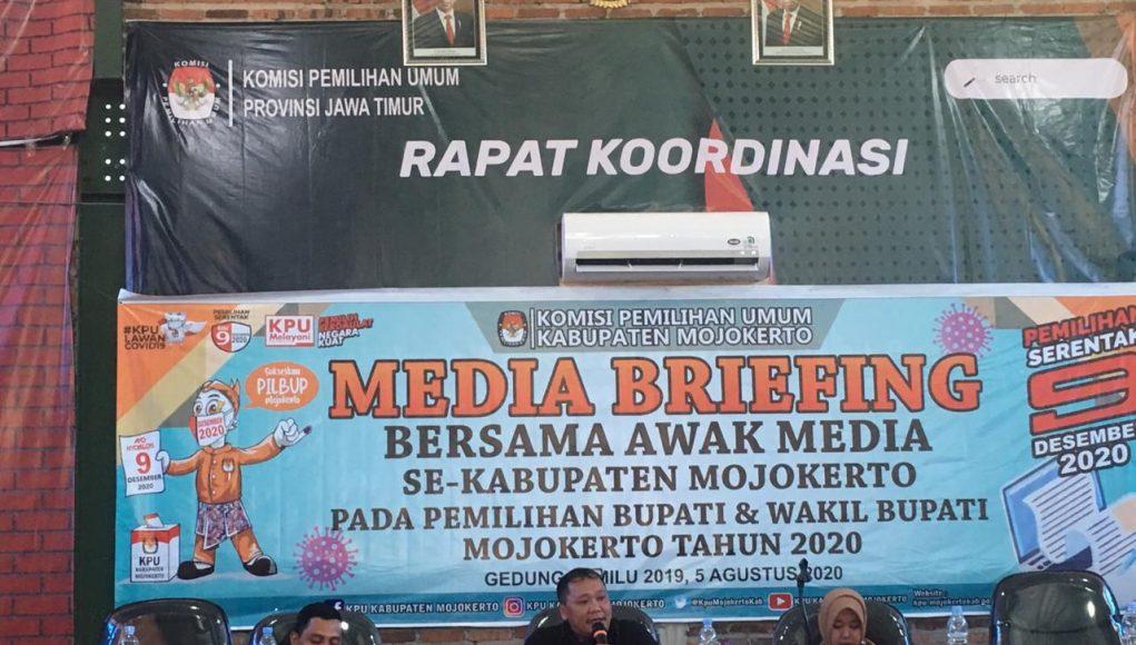 KPU Kabupaten Mojokerto sosialisasi agenda Pilbup 2020