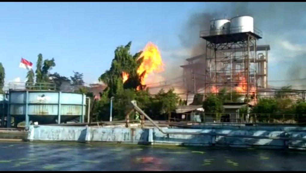 Pabrik Etanol Gedeg Terbakar